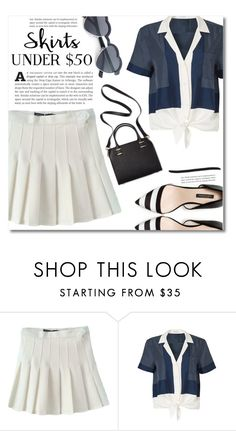 """""""Skirts Under $50"""" by dolly-valkyrie ❤ liked on Polyvore featuring Equipment, Humble Chic, under50 and skirtunder50"""