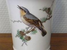 Meissen-Vase-17-cm-Vogel-Malerei-Goldrand-Porzellan-Trichtervase-1-Wahl-Insekten