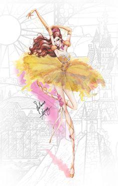Belle [as a ballerina] (As Ballerinas by Guillermo_Meraz @Instagram) #BeautyAndTheBeast