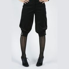 MOVING SALE Xsmall Black Military Inspired Half Pants and vegan friendly. $75.00, via Etsy. - ouji style