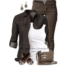 """""""Only Rock It Fitted Shirt"""" by stay-at-home-mom on Polyvore"""