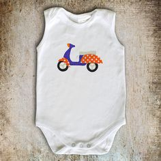 Scooter Applique Template PDF Pattern DIY Make by AngelLeaDesigns