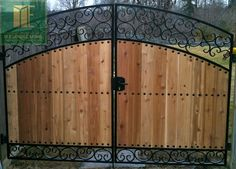 Handmade Gates | custom wrought iron and cedar gate design in toronto