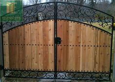 Handmade Gates | custom wrought iron and cedar gate design in toronto