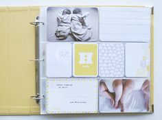 I made sample Project Life Baby Edition sample pages for @Becky Higgins LLC. The neutral kit is gorgeous! I'm sharing TEN spreads from my album, including the cover and back pages. #projectlife