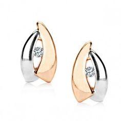Złote kolczyki z cyrkonią - Biżuteria srebrna dla każdego tania w sklepie internetowym Silvea