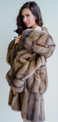 Sable Coat, Fox Fur Coat, Brunette Hair, Furs, Mink, Faux Fur, Jackets, Beauty, Passion