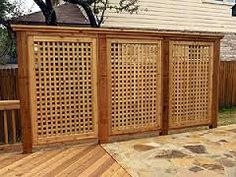 Image result for wooden garden privacy screens
