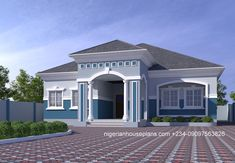 Nice 3 Bedroom Bungalow Design In Nigeria 81 on Home Interior Design Ideas with 3 Bedroom Bungalow Design In Nigeria at Amazing Home Decor Bungalow Style House, Modern Bungalow House Design, Bungalow Floor Plans, 4 Bedroom House Designs, 3 Bedroom Bungalow, Duplex Design, Modern Bungalow Exterior, House Plans Mansion, My House Plans