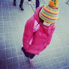#cold #winter in #barcelona ... #decamino al #cole en una #mañana de #invierno