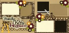 Family Is The Key To Happiness Layout Journal Paper, Scrapbook Journal, Scrapbook Page Layouts, Scrapbook Pages, Scrapbooking Ideas, Key To Happiness, 6 Photos, Paper Piecing, Scrapbooks