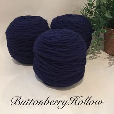 Reclaimed 100 Wool Worsted Weight Navy Blue Yarn 453 Yards Lot 543 | eBay