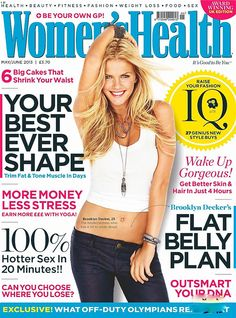 Magazine photos featuring Brooklyn Decker on the cover. Brooklyn Decker magazine cover photos, back issues and newstand editions. Brooklyn Decker, Womens Health Magazine, Healthy Snacks For Adults, Video Games For Kids, New Shape, Health Tips, Women's Health, Health Fitness, No Equipment Workout