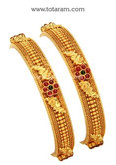 Totaram Jewelers: Buy 22 karat Gold jewelry & Diamond jewellery from India: Gold Bangles