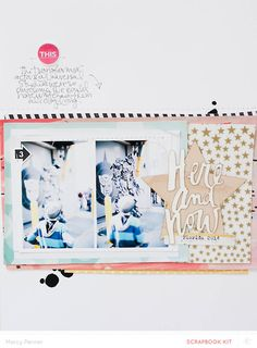 #papercraft #Scrapbook #layout. Here and Now by marcypenner at @studio_calico