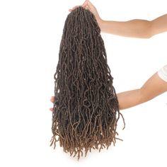 Pretty Braided Hairstyles, Crochet Braids Hairstyles, Cool Hairstyles, Best Crochet Hair, Crochet Hair Styles, Crochet Hair Extensions, Braid In Hair Extensions, Red Faux Locs, Ombre Crochet Braids