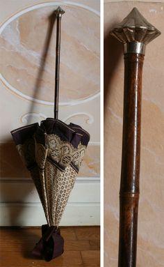 bamboo handle, probe and silver handle. C Alotta silk and lace. Lace Umbrella, Lace Parasol, Vintage Umbrella, Under My Umbrella, House Of Worth, Lace Silk, Silk Satin, Brollies, Umbrellas Parasols