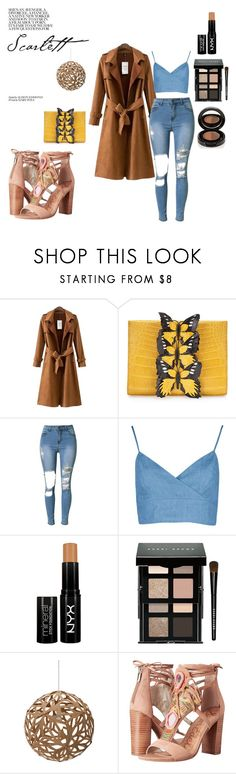 """chic"" by nikki-rene ❤ liked on Polyvore featuring Chicnova Fashion, Nancy Gonzalez, NYX, Bobbi Brown Cosmetics, David Trubridge, Sam Edelman and Anastasia Beverly Hills"