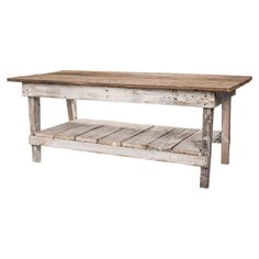 I love these reclaimed wood tables! Ask Andy to make for the farmhouse!