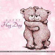 Valentine Day Week, Happy Valentines Day Pictures, Valentines Day Ecards, Valentines Day Drawing, Valentines Diy, Hug Day Images, Happy Hug Day, Hug Gif, Cute Love Cartoons