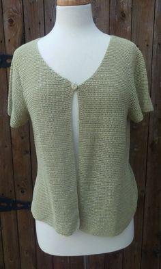 109b36eea2 Eileen Fisher Size Large Open Weave Linen Blend Cardigan Sweater Short  Sleeve. Women s Sweaters ...