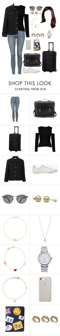 """BELG (back home)"" by ittgirl ❤ liked on Polyvore featuring Topshop, Dr. Martens, Victorinox Swiss Army, Veja, Ray-Ban, Jennifer Meyer Jewelry, Minor Obsessions, Alison Lou, MICHAEL Michael Kors and Estella Bartlett"