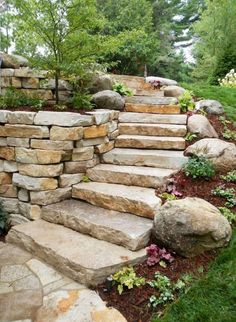 47 Captivating Backyard Garden Landscaping Ideas On A Budget -  Garden landscaping is a great way to update a backyard. Garden landscaping is becoming a popular way to get the most out of gardens--visually a. Hillside Landscaping, Front Yard Landscaping, Landscaping Ideas, Outdoor Landscaping, Inexpensive Landscaping, Stone Landscaping, Country Landscaping, Retaining Wall Landscaping, Landscaping Company