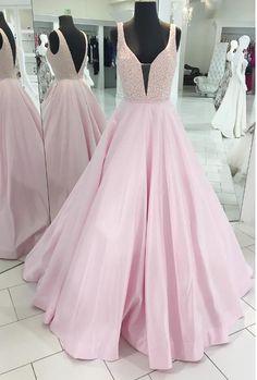 A-line Prom Dress V Back, Back To School Dresses, Prom Dresses For Teens, Pageant Dress, Graduation Party Dresses BPD0625
