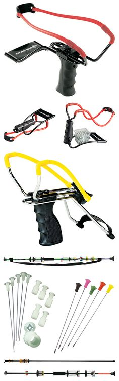 Slingshots and blow guns can be interesting to try out at the range or in your backyard.