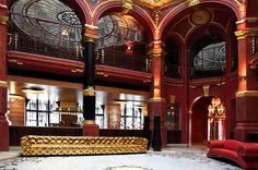 """Hotel Banke (Paris, France) situated in the business area near the Haussmann Boulevard and Paris Opera. The hotel was designed by talented architects Cassien Bernard and Paul Friesse in """"Eiffel"""" style, in a Belle Epoch."""