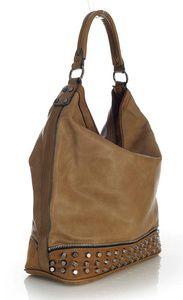 Designerski worek z ćwiekami SAN REMO kolor beżowy Bags, Fashion, Handbags, Moda, Fashion Styles, Fashion Illustrations, Bag, Totes, Hand Bags