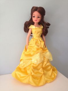 Rerooted and repainted Sindy as Belle from Disney's Beauty and the Beast. Photo: Cheryl.
