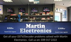 Martin Electronics is the premier Dstv installation & Multichoice agents, we do holiday TV and smart card rentals to accommodate the hospitality industry