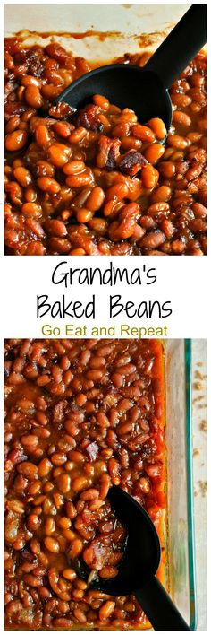 Grandma's Baked Beans are seasoned with bacon, brown sugar, molasses, and…