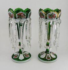 Vases, Glass Beads, Glass Crystal, Glass Vase, Candlesticks, Candelabra, Antique Glass, Cut Glass, American