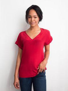 Atelier Prélude - 100% silk - Red / Raspberry Cami Top — Atelier Prélude