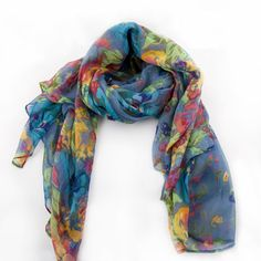 Fashion Large Long Womens Ladys Girls Scarf Wrap Shawl Multi Color Free Shipping | eBay