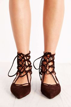 Jeffrey Campbell Atrium Lace-Up Flat