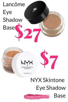 This drugstore dupe from NYX color corrects, holds shadow in place and makes it last longer. See more of my dupes on the blog. #drugstoremakeup #eyeshadowlooks #makeupdupes Skincare Dupes, Beauty Dupes, Beauty Makeup, Makeup Guide, Eye Makeup Tips, Makeup Hacks, Makeup Ideas, Beauty Over 40, Make Up Dupes