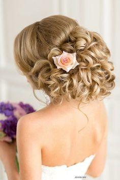 Best Ideas For Wedding Hairstyles : Featured Hairstyle: Elstile (El Style); Teen Hairstyles, Bride Hairstyles, Headband Hairstyles, Vintage Hairstyles, Updo Hairstyle, Hairstyle Ideas, Elegant Wedding Hair, Wedding Updo, Trendy Wedding