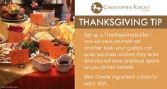 Thanksgiving Tip: Buffet Style!
