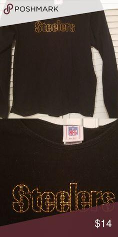7ba60d614c236 Sequin Steeler tshirt Steeler long sleeved tshirt with sequins nfl for her Tops  Tees - Long