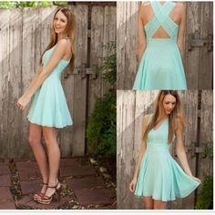 Short bridesmaid dress, mint bridesmaid dress, http://www.storenvy.com/products/13552728-short-bridesmaid-dress-mint-bridesmaid-dress-chiffon-bridesmaid-dress-sim