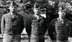 Colonel Robert Strayer,Major Clarence Hester and Major Lloyd Patch