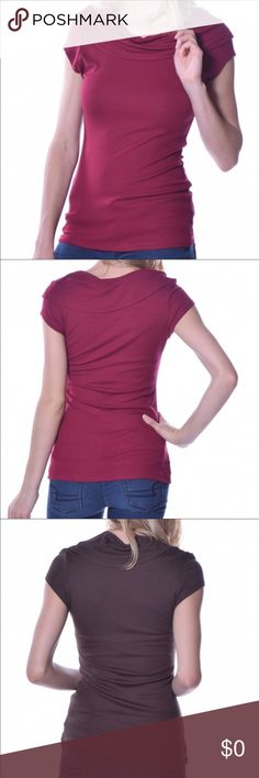 ❣️🌋BELOW COST🌋❣️Amazing deal. Dressy T ❣️. This Dressed up T/shirt hugs the body and has good stretch to it. If you are like me, I would wear this type shirt to work in somewhere between a casual and business casual atmosphere. Jacket or cardigan on top. Jean jacket awesome. Or dress up further with nice pencil skirt and pumps. The neckline gives it that extra look of class if you need it While still being a favorite T. I have brown and wine colors one in each size. Pastels Clothing Tops…