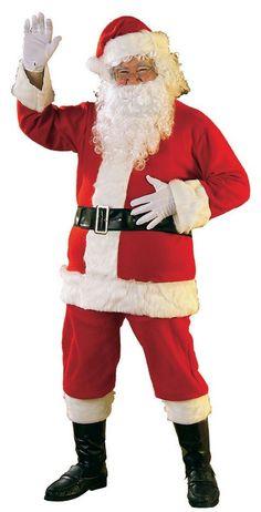 6e3c1e15ce29c Christmas Costumes XL Flannel Santa Costume Mens Santa Costume