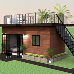 Container House Design, Tiny House Design, Tiny House Plans, House Floor Plans, Building Plans, Building A House, Building Permit, Tyni House, Casas The Sims 4