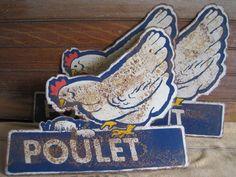 vintage chicken signs
