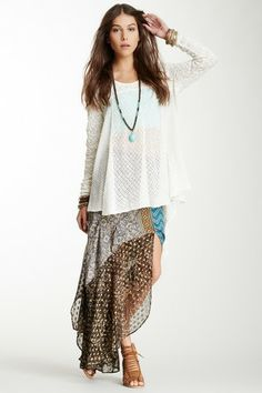 Skirt N' Century Boarder Patchwork Maxi Skirt by Free People on @HauteLook.  So adorable !!!