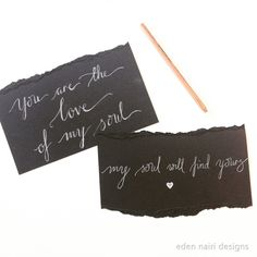Love Quotes Modern Calligraphy